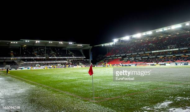 General view of the Lerkendal Stadion, home of Rosenborg BK taken during the UEFA Europa League group stage match between Rosenborg BK and FC...