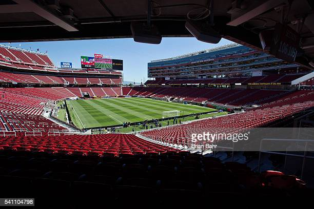 General view of the Levi's Stadium before a Quarterfinal match between Mexico and Chile as part of Copa America Centenario US 2016 on June 18, 2016...