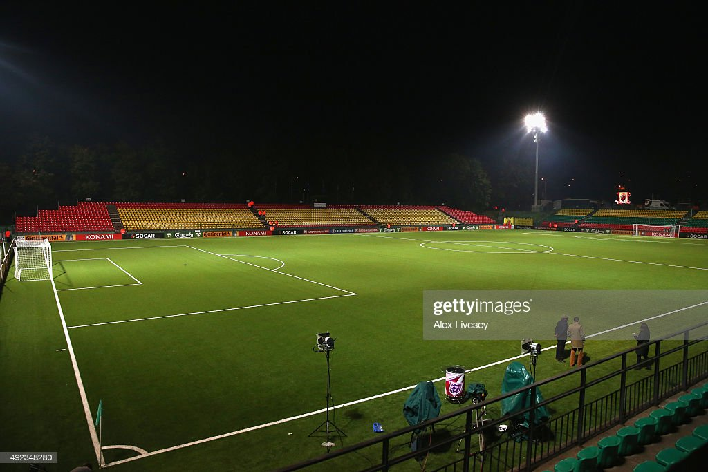 A general view of the LFF Stadium is seen prior to the UEFA EURO 2016 qualifying match between Lithuania and England at the LFF Stadium on October 12, 2015 in Vilnius, Lithuania.