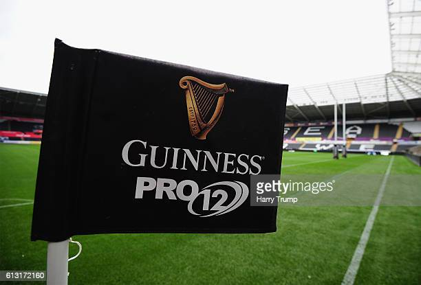 General view of the Liberty Stadium during the Guiness Pro12 match between the Ospreys and Cardiff Blues at the Liberty Stadium on October 7 2016 in...