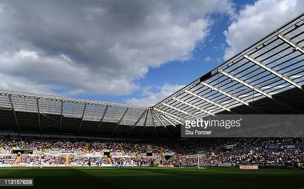 A general view of the Liberty Stadium during the npower Championship match between Swansea City and Ipswich Town at Liberty Stadium on April 25 2011...