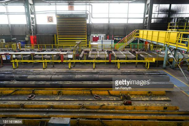 General view of the Liberty Steel Pipe Mill in Hartlepool during a visit to the site by Anneliese Dodds, Shadow Chancellor of the Exchequer and Dr...