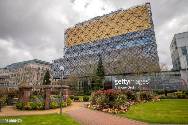 General view of the Library of Birmingham in Birmingham city centre on March 20, 2020 in Birmingham, England.