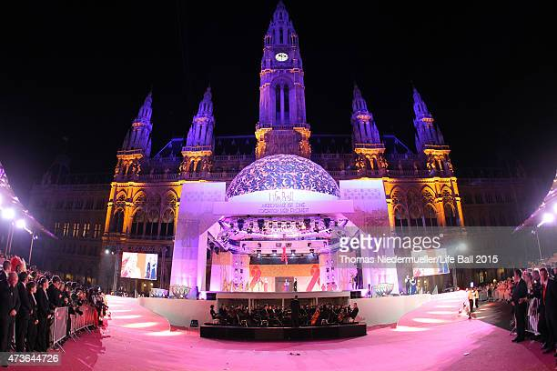 A general view of the Life Ball 2015 show at City Hall on May 16 2015 in Vienna Austria