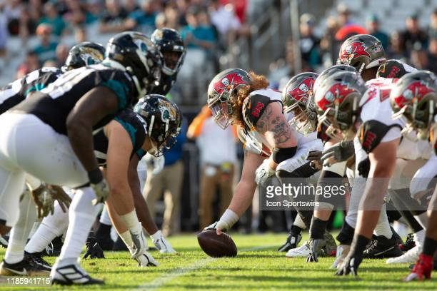 A general view of the line of scrimmage during the game between the Tampa Bay Buccaneers and the Jacksonville Jaguars on December 1 2019 at TIAA Bank...