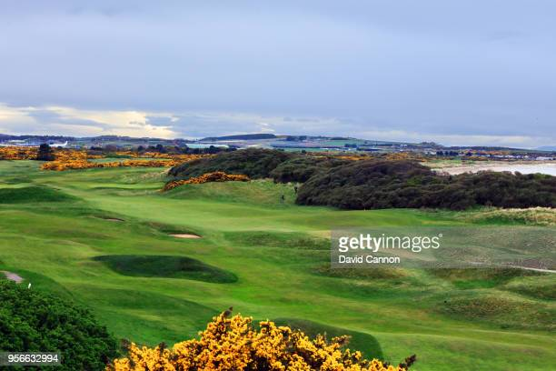 General view of the links at Moray Golf Club which lie in close proximity to the RAF Lossiemouth air base on May 1, 2018 in Lossiemouth, Scotland.