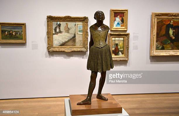 A general view of The Little Dancer by HilaireGermainEdgar Degas the newly reoponed Harvard Art Museums following a $350 million expansion and...