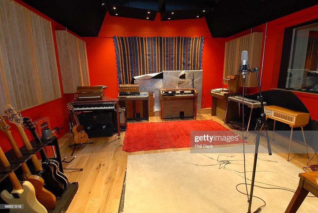 A general view of the live room at the Paint Factory recording studio on 22nd October 2008 in the United Kingdom.