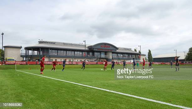 General view of the Liverpool Academy building during the Liverpool U18 v Manchester United U18 game at The Kirkby Academy on August 18 2018 in...