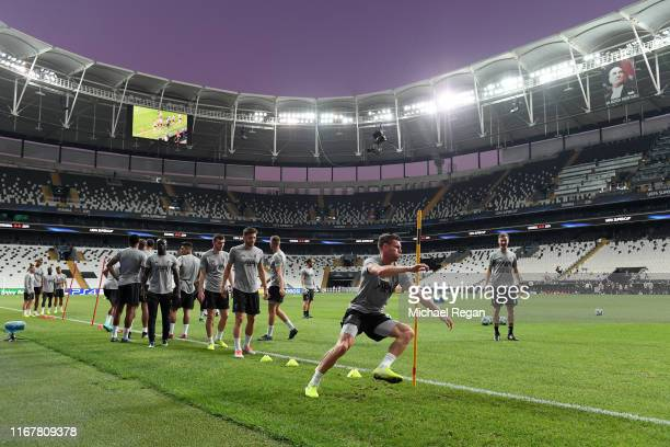 General view of the Liverpool Training Session ahead of the UEFA Super Cup Final between Liverpool and Chelsea at the Vodafone Arena on August 13,...