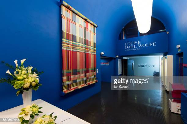 General view of the lobby area during the Louise DahlWolfe exhibition private view at The Fashion and Textile Museum on October 18 2017 in London...