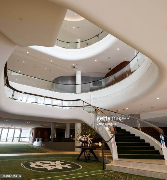 General view of the lobby area on the ground level during a media preview of the new Club Stand at Flemington Racecourse on September 10 2018 in...