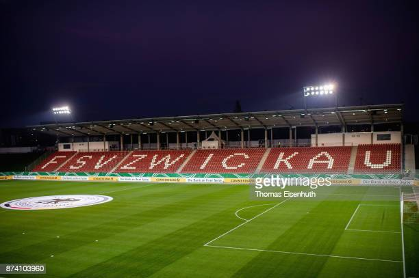 General view of the local football stadium in Zwickau prior the Under 20 International Friendly match between U20 of Germany and U20 of England at...