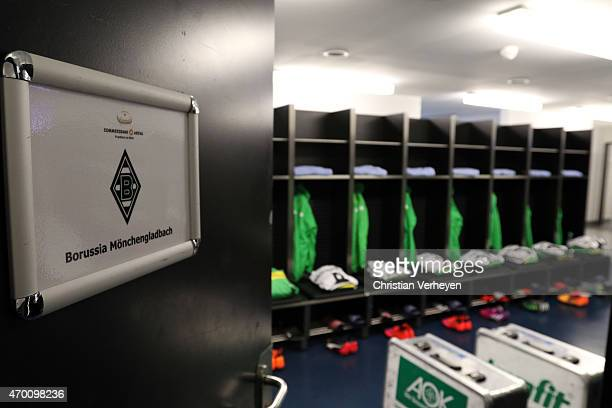 A general view of the locker room of Borussia Moenchengladbach before the Bundesliga match between Eintracht Frankfurt and Borussia Moenchengladbach...