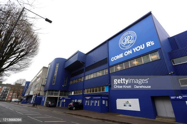 General view of the Loftus Road Stadium, the home Queen's Park Rangers F.C, is seen as football in the England remains suspended as the UK adjusts to...