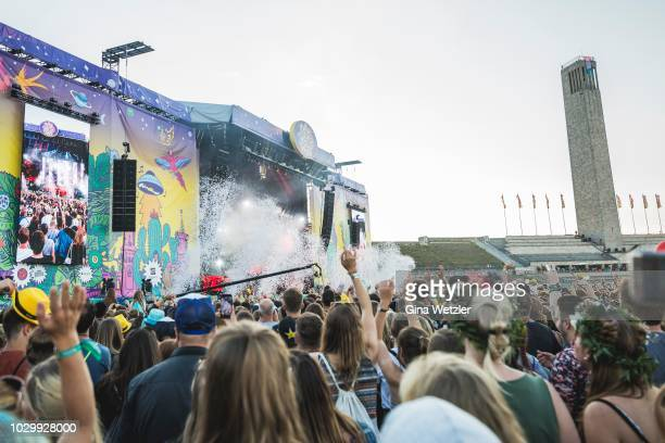 General view of the Lollapalooza at the Olympiagelände on September 9, 2018 in Berlin, Germany.