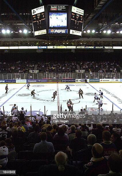 A general view of the London Arena during the Ice Hockey Super League match between London Knights and Bracknell Bees November 14 2002 at the London...