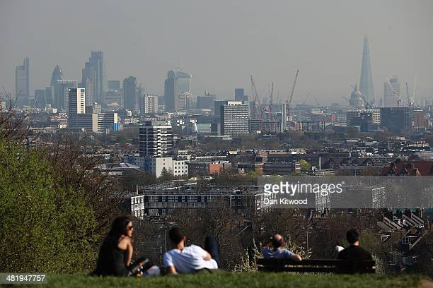 A general view of the London skyline from Hampstead Heath on April 1 2014 in London England Several high profile campaigners including Sir Anthony...