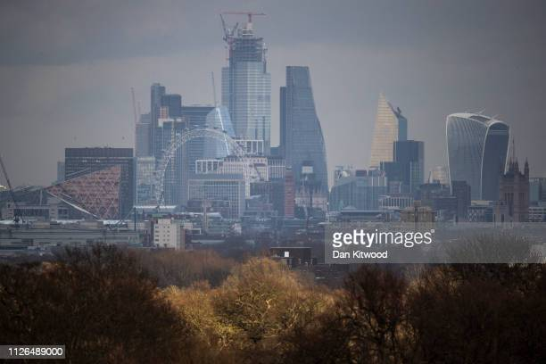 A general view of the London Skyline including the London Eye on February 19 2019 in London England