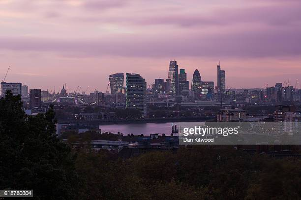 A general view of the London Skyline on October 27 2016 in London England