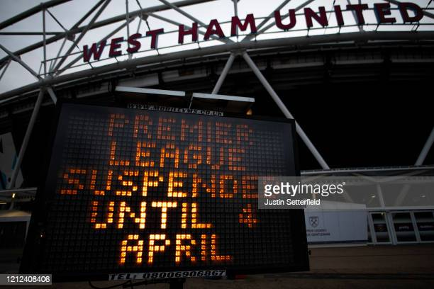 General view of the London Stadium home of West Ham United as all Premier League matches are postponed until at least April 4th due to the...