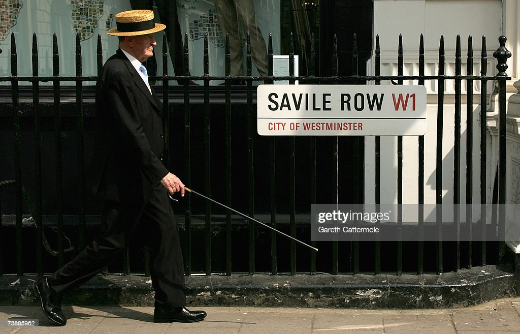 A general view of the London Street Savile Row in London on April 14, 2007 in London.