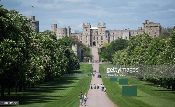 General view of the Long Walk leading to Windsor Castle ahead of the wedding of Prince Harry and Meghan Markle, on May 9, 2018 in Windsor, England.