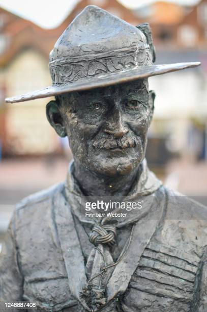 General view of the Lord Baden-Powell statue on June 11, 2020 in Poole, United Kingdom. The statue of Robert Baden-Powell on Poole Quay is to be...