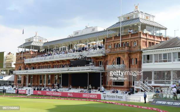 A general view of the Lord's pavilion before the Vitality T20 Blast match between Middlesex and Surrey at Lord's Cricket Ground on July 5 2018 in...