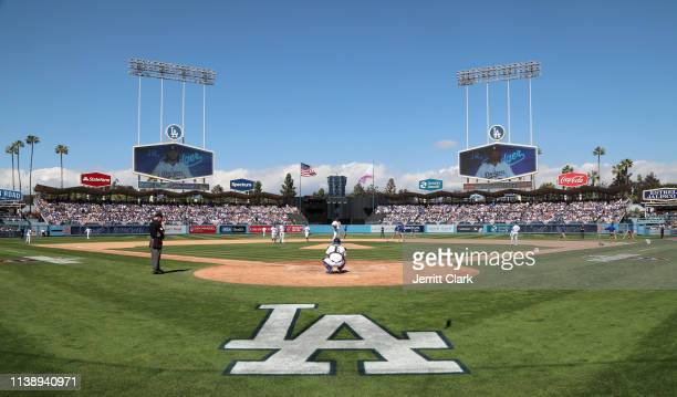 General view of the Los Angeles Dodgers Game Opening Day at Dodger Stadium on March 28 2019 in Los Angeles California