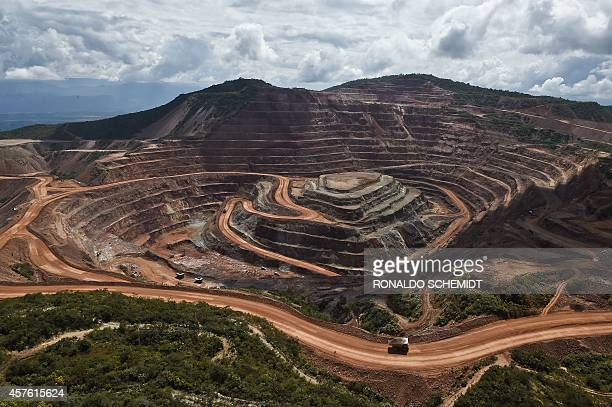 A general view of the Los Filos gold mine in Guerrero State Mexico on October 21 2014 AFP PHOTO/RONALDO SCHEMIDT