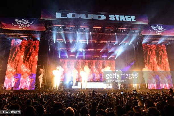 General view of the Loud Stage during Rolling Loud at Hard Rock Stadium on May 12 2019 in Miami Gardens FL