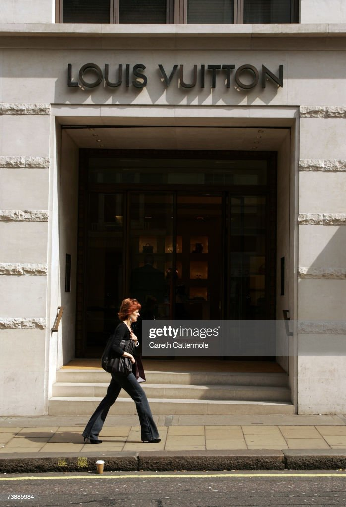 A general view of the Louis Vuitton store on New Bond Street in London on April 14, 2007 in London.