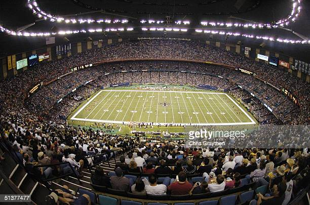 General view of the Louisiana Superdome during the game between the New Orleans Saints and the San Francisco 49ers on September 19 2004 in New...