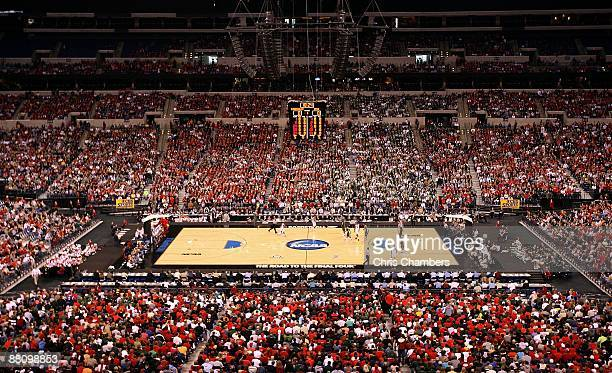 General view of the Louisville Cardinals playing against the Michigan State Spartans during the fourth round of the NCAA Division I Men's Basketball...