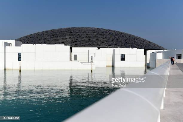A general view of the Louvre Abu Dhabi museum on January 9 2018 in Abu Dhabi United Arab Emirates