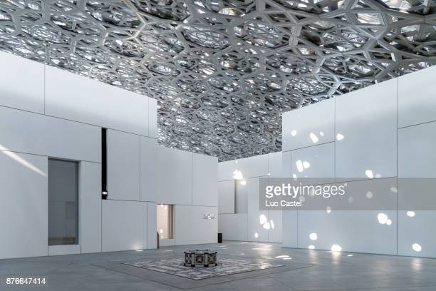 General view of the Louvre Abu Dhabi Museum on November 10 2017 in Abu Dhabi United Arab Emirates