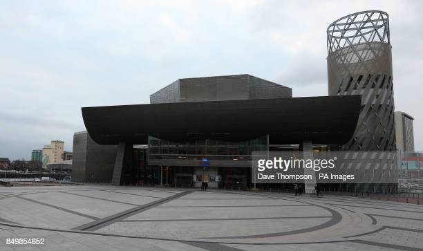 General view of the Lowry Theatre in Salford Quays Greater Manchester