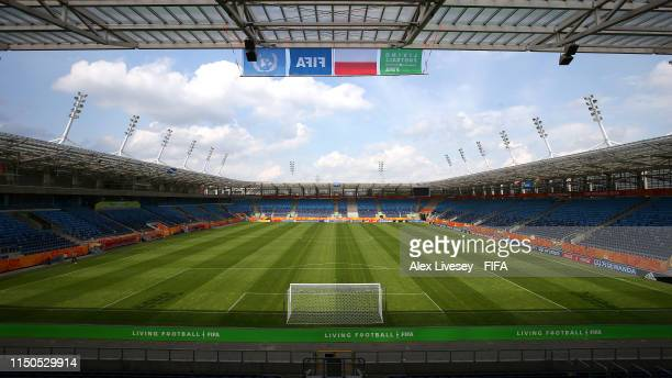 A general view of the Lublin Stadium prior to the 2019 FIFA U20 World Cup on May 20 2019 in Lublin Poland