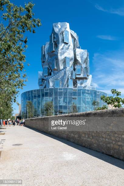 General View of the Luma Foundation designed by Architect Frank Gehry in Arles on June 26, 2021 in Arles, France.