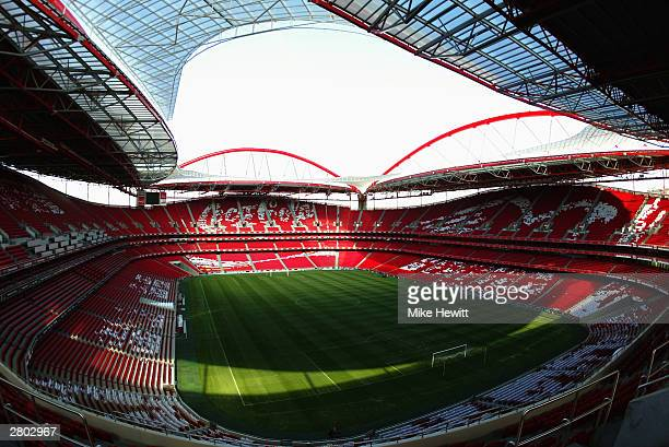 General view of the Luz Stadium home to SL Benfica taken during a photoshoot held on December 3, 2003 in Lisbon, Portugal. The stadium will be used...
