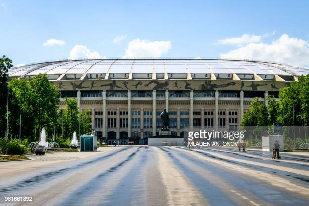 A general view of the Luzhniki Stadium in Moscow on May 23 2018 The 80000seater stadium will host seven World Cup matches including the opening game...