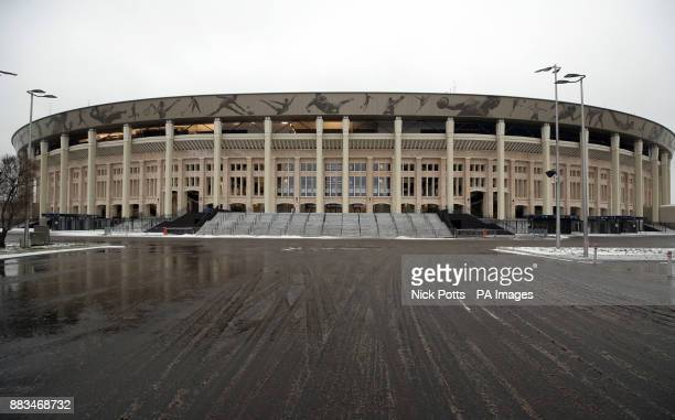 A general view of the Luzhniki Stadium in Moscow Russia PRESS ASSOCIATION Photo Picture date Friday December 1 2017 The stadium will host the opening...