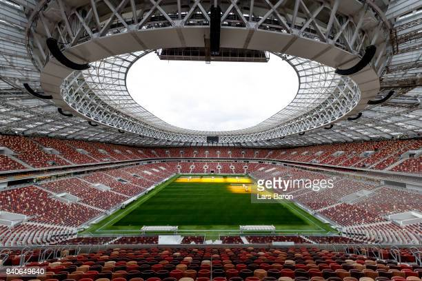 A General View Of The Luzhniki Stadium On August   In Moscow Russia