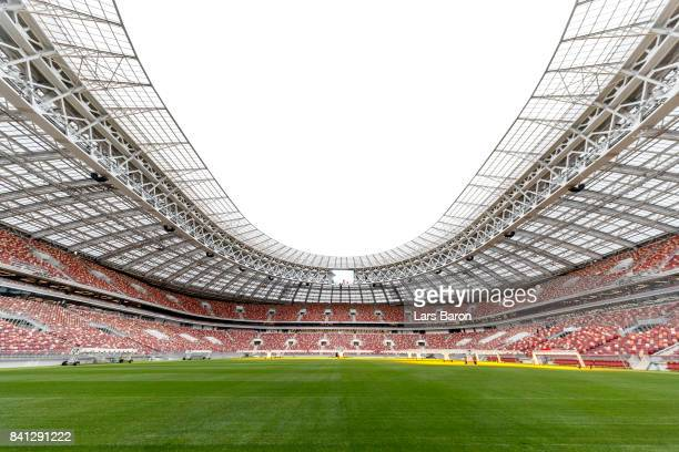 A general view of the Luzhniki stadium on August 29 2017 in Moscow Russia