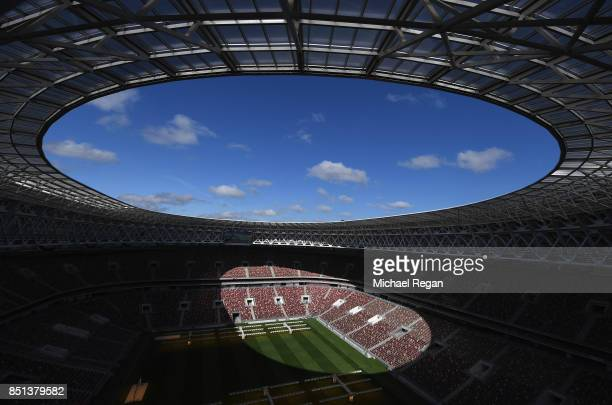 A general view of the Luzhniki Stadium on September 22 2017 in Moscow Russia
