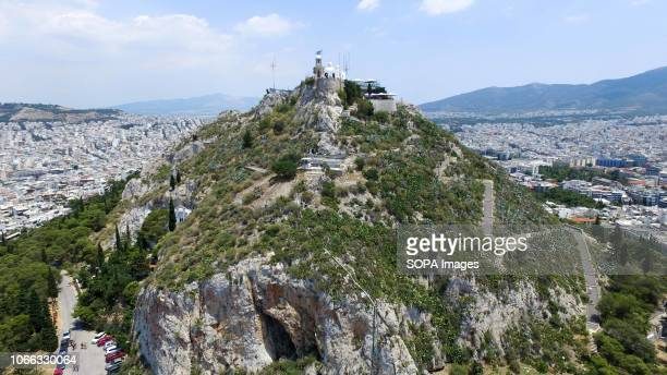 A general view of the Lykavitos Hill in the Central Athens