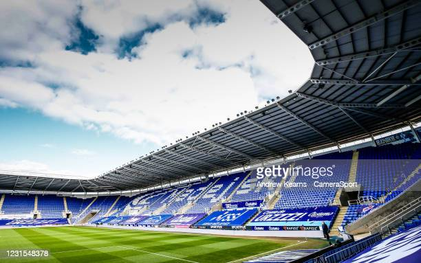 General view of the Madejski stadium during the Sky Bet Championship match between Reading and Sheffield Wednesday at Madejski Stadium on March 6,...