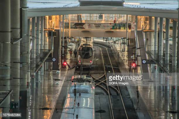 A general view of the Madrid Atocha Railway Station 50% of the normal train traffic has been stopped due to the three wise men holidays and also to...