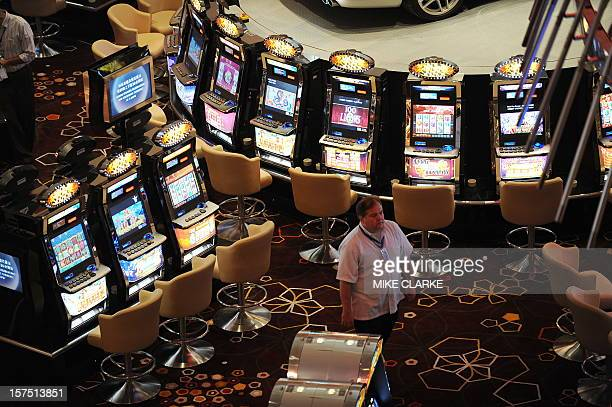 General view of the main casino floor of the Hard Rock Cafe Hotel is seen inside the City of Dreams complex in Macau on June 1, 2009. The launch of...